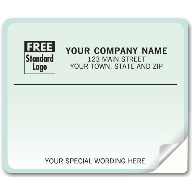 blue gradient mailing labels laser