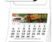 Magnetic Standard 12-Month Calendar (MBC) - Jan. 2019 w/Cover #4201